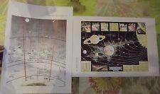 Antiguo Documento Postal L'Homme en L'Espace Modern Space Map Planets