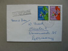 IRELAND, cover FDC to Germany 1973, science meteorology, map
