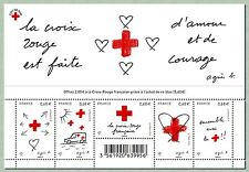 france 2015 bloc red cross love courage cars heart croix rouge Agnes B ms 5v mnh