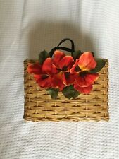 Kate Spade Rare Wicker Basket Bag with Red Poppies - Very Jane Birkin