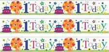 AGE 1/ 1ST BIRTHDAY BOY BLUE FOIL BANNERS (SE)