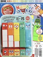 Cbeebies Special Magazine With Number Blocks 11-15 Toy (Make 1-5 too!) It's new!