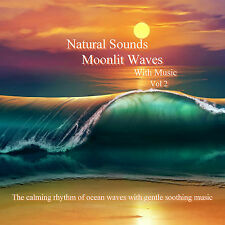 Natural Sounds Moonlit Waves & Music CD Vol 2 Relaxation Stress Relief Sleep Aid