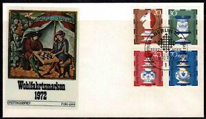 Berlin 1972 Chess Semi-Postal Stamps FDC - Mint