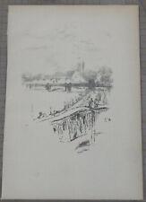 JAMES McNEILL WHISTLER ORIGINAL LITHOGRAPH SAVOY PIGEONS 1896