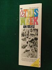 1973 This Week on Oahu Thick Travel Guide Book W/ Maps Sexy Bikini Cover Nice