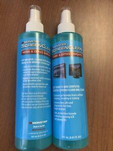 NEW Monster ScreenClean Alcohol Free Liquid Gel Cleaner~ 237mL(8.01FL OZ) Qty 2