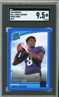 2018 Donruss Blue Press Proof #317 Lamar Jackson RC SGC 9.5 Mint+ = PSA 10?