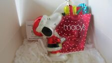 New ListingKurt Adler Polonaise Peanuts Snoopy with Macy*s Bag of Gifts Rare~ New In Box