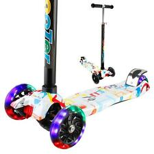 Vamslove Kick Scooter 3 Flashing Wheels Adjustable Height Non-Slip Handle