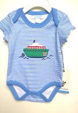 JAXXWEAR_Blue_BODYSUIT_w/Embroidered_Boat_Baby_Boy_0-3- Quality_PIMA_Cotton -NWT