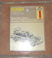 Rover 3500 V8 Haynes Workshop Manual de Taller / Reparación