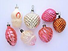 Soviet Christmas ornament 7 PCs. USSR Russia Xmas Decor Glass Vintage Lot #1203