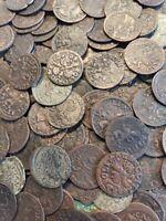 (1) High Grade 1600s Poland Sweden Solidus Medieval Schilling Copper Coin