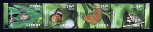 Samoa 2015 Butterflies Express Mail Service Postage Stamp Attached Strip of Four