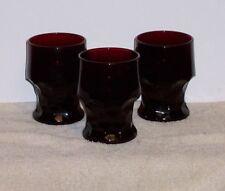 Vintage Royal Ruby Georgian Honeycomb Tumblers Set of 3