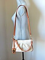 NWT Valentina Made in Italy Genuine Leather Pleated Almond Satchel Shoulder bag