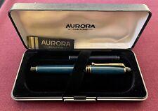 Aurora b11 Penna stilografica in resina con finiture dorate (verde)