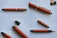 Montblanc Masterpiece #202 Coral Red & Gold Fountain Pen 14C #2 Flex Nib M-BB