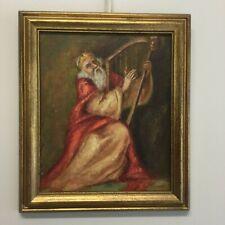 """Schilderij olieverf op doek  """"Koning David """" gesigneerd zie scan."""