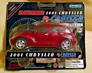 PT CRUISER 2001 BURGUNDY CHRYSLER 1:32 SCALE MOTORIZED NEW BOLEY 2000 PULL BACK.