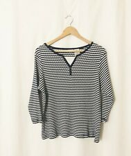 White Stag Plus White and Blue  3/4 Sleeve T-shirt Blouse Size 16W