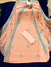 4pcs Unstitched Salwar Kameez,Suits, Soft Georgette Embroidery