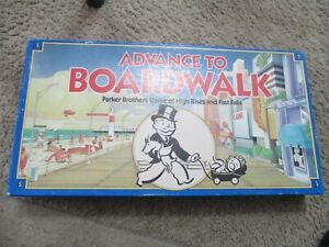 VintageParker Brothers Advance to Boardwalk Monopoly Board Game  1991