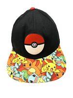 Pokemon Snapback Black Hat Pikachu Char Nintendo