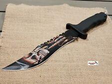 "13"" Black CSGO Fixed Blade Hunting Knife Bowie Skull Finger Combat Survival NEW"