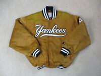 VINTAGE Starter New York Yankees Jacket Adult Extra Large Orange Baseball Mens *