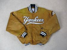 VINTAGE Starter New York Yankees Jacket Adult Extra Large Orange Baseball Mens *