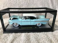 M2 Machines 1957 Chevrolet Bel Air Hard Top Auto Thentics Light Blue 57 Chevy