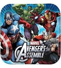 The Avengers/Marvel Avengers Party Supplies Square Dinner Paper Plate 8pk 23cm