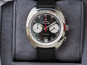 Zodiac Grandrally chrono reverse panda reédition (Heuer like) New