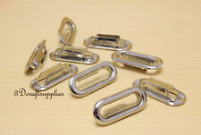 eyelets metal with washer grommets nickel oval 40 sets 25 mm G80