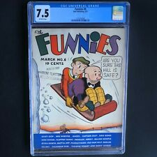 THE FUNNIES #6 (Dell 1937) 💥 CGC 7.5 OW 💥 ONLY 6 in CENSUS!