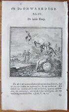 Jan Luiken Emblem Trumpet The Call - 1728