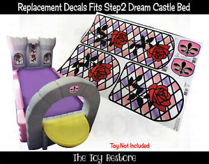 The Toy Restore Replacement Stickers Decals For Step2 Princess Dream Castle Bed