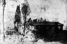 FALLANI Mario, La casa di Ciajkovskij. Acquaforte e vernice molle 1985