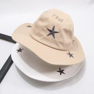 Baby Hat Embroidery Spring Summer Caps Outdoor Kids Sun Big Brim Boy Girl Cotton