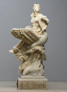 Aphrodite & Swan Greek Goddess Venus Statue Handmade Sculpture Figure 6.3 inches