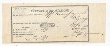 P943-LOMB.VENETO-RICEVUTA D'IMPOSTAZIONE MANTOVA 1853