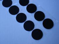 Lot de 100 pastilles scratch agrippantes diamètre 33 mm (noir adhésif)