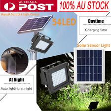 54 LED Solar Light Sensor Flood Spot Lamp Garden Outdoor Security Waterproof