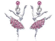 Ballerine Danseuse 925 Sterling Silver Dangle Boucles d/'oreilles pendantes danse ballet