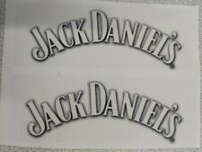JACK DANIELS-CLEAR GLOSS WHITE RECTANGLE STICKERS(2-PCS 100mm x 35mm)