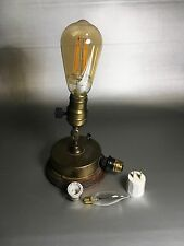 Yost Antinque Brass Lamp Retractable Extension Cord