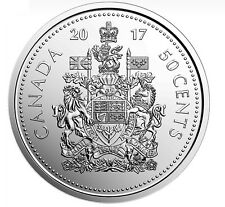 2017  CANADA 50-CENT UNC (Coat of Arms of Canada) FROM MINT ROLL