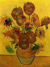 "Vincent Van Gogh -Still Life Vase with Fifteen Sunflowers 20""x26""  Canvas Art"